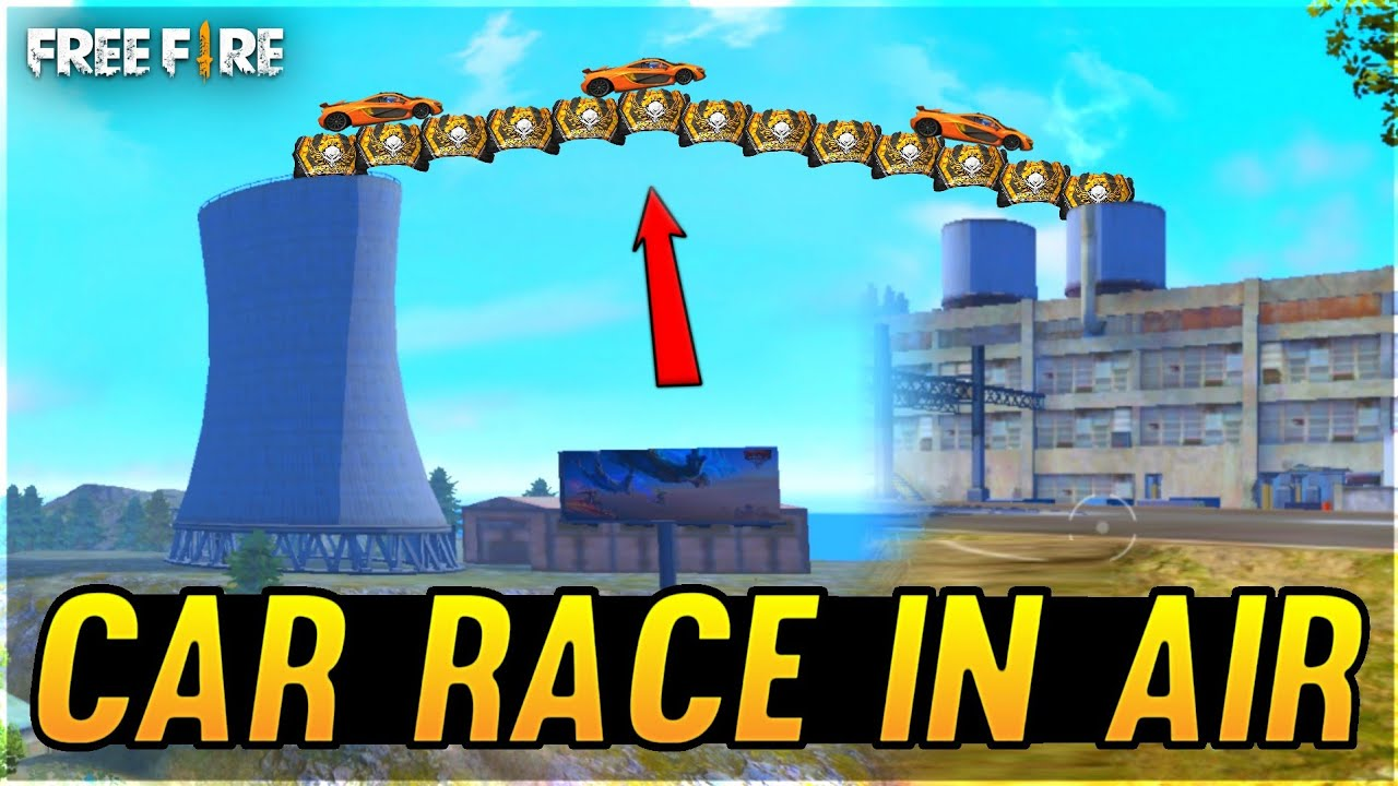 Car Race In Air First Time In Free Fire - Who Will Win? Impossible Moment - Garena Free Fire