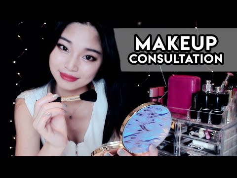 [ASMR] Makeup Consultation Roleplay - Giving You a Makeover