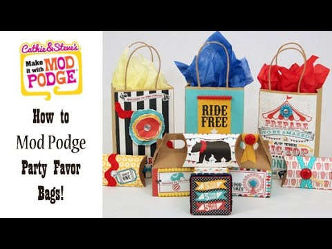 DIY Kid's Party Favor Bags with Cathie & Steve