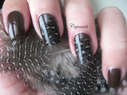 Nail art classy feather nails youtube nail art classy feather nails prinsesfo Gallery