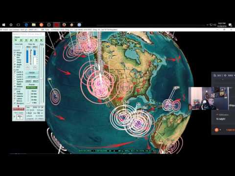 12/28/2016 -- Nightly Earthquake update + forecast -- West Coast volcanic swarm -- Midwest Watch