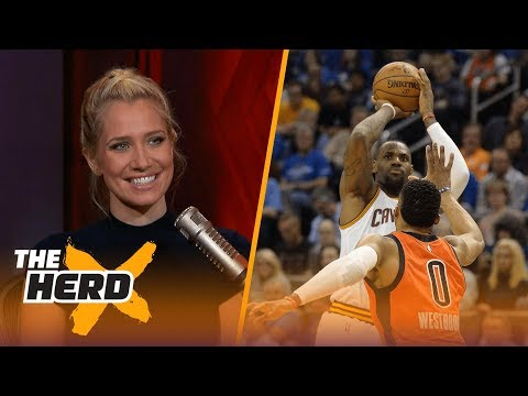 Report: LeBron would love to play with Westbrook, Paul George - Kristine and Colin react | THE HERD