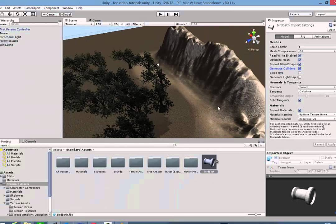 Importing Blender objects into Unity