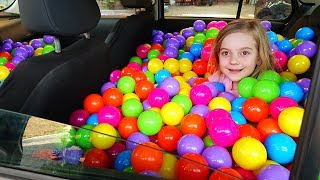 Ulya makes ball pool of daddy's car