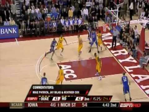 Gerald Henderson dunks over Maryland