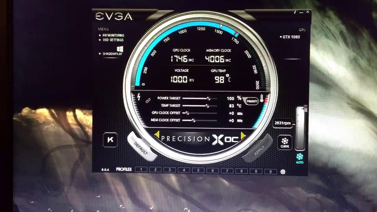 EVGA GTX 1060 Temp/Fan