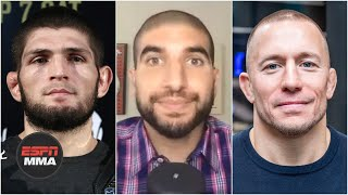 DC & Helwani have differing opinions on Khabib vs. GSP and who would win | ESPN MMA