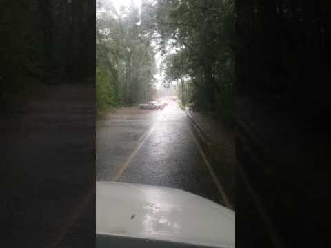 Major flooding on Blackwater road in Knotts Island North Carolina