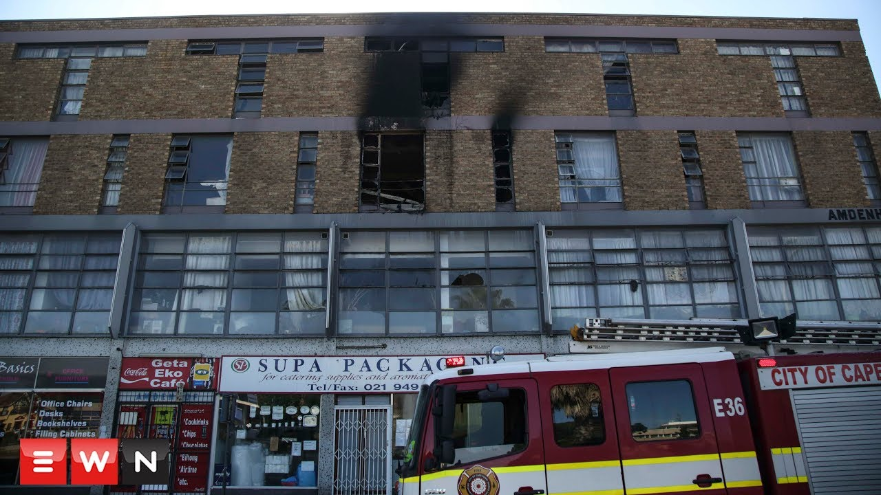 Two women jump from burning building in Bellville Central Business District.