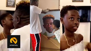 Shatta Wale's Daughter Gifts Father Very Expensive Gift On His Birthday