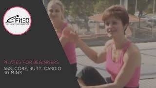 Pilates for Beginners, Abs, Core, Butt, Cardio 30 Mins