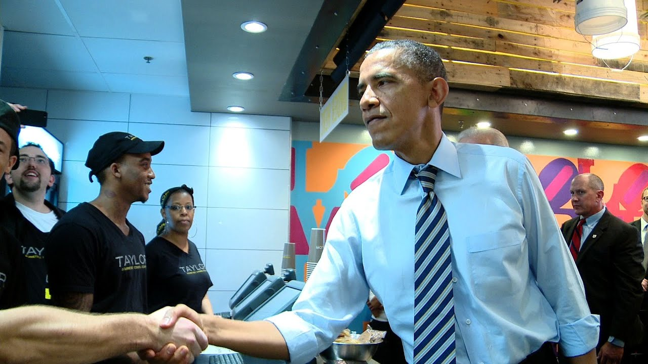 Download Raw Video: President Obama and Vice President Biden at Taylor Gourmet, October 4, 2013