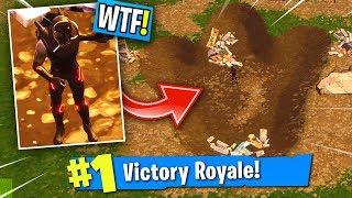 *SECRET* DINOSAUR FOOTPRINT Victory Royale in Fortnite! (Season 4 Update)