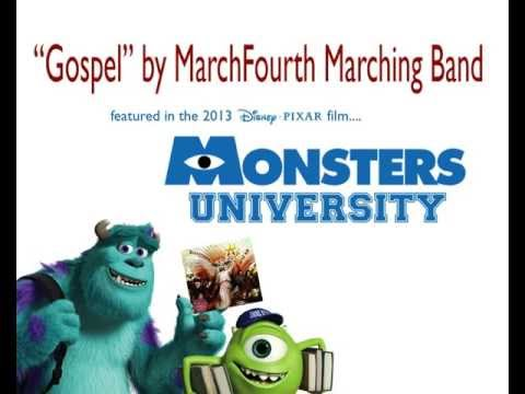 """Gospel"" (closing theme song in 'Monsters University') by MarchFourth Marching Band"