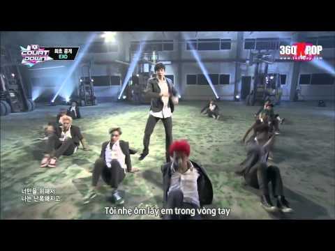 [Vietsub][Perf] EXO - Growl @ 130801 M! Countdown {EXO Team} [360kpop]
