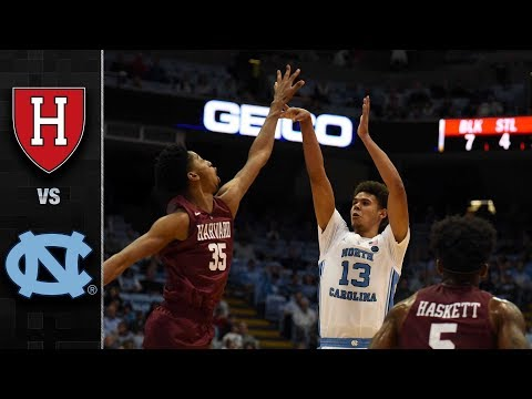 Harvard vs. North Carolina Basketball Highlights (2018-19)