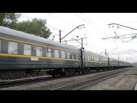 Cмотреть видео ЭП2К-073 с поездом Восток Пекин - Москва
