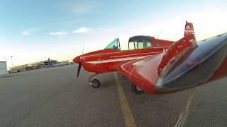 Grumman AA1A Airplane Startup Interior View!!