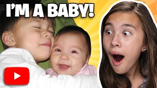 REACTING MY OLD BABY VIDEOS!!! JillianTubeHD Life Before YouTube!