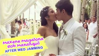 Maxene Magalona Rob Mananquil Wedding Party - Performing Francis M Songs