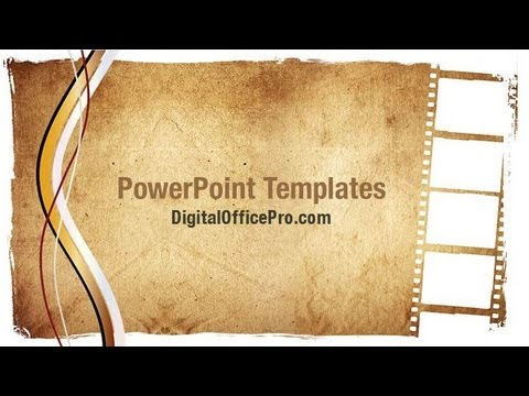 Grunge Film Strip PowerPoint Template Backgrounds - DigitalOfficePro ...