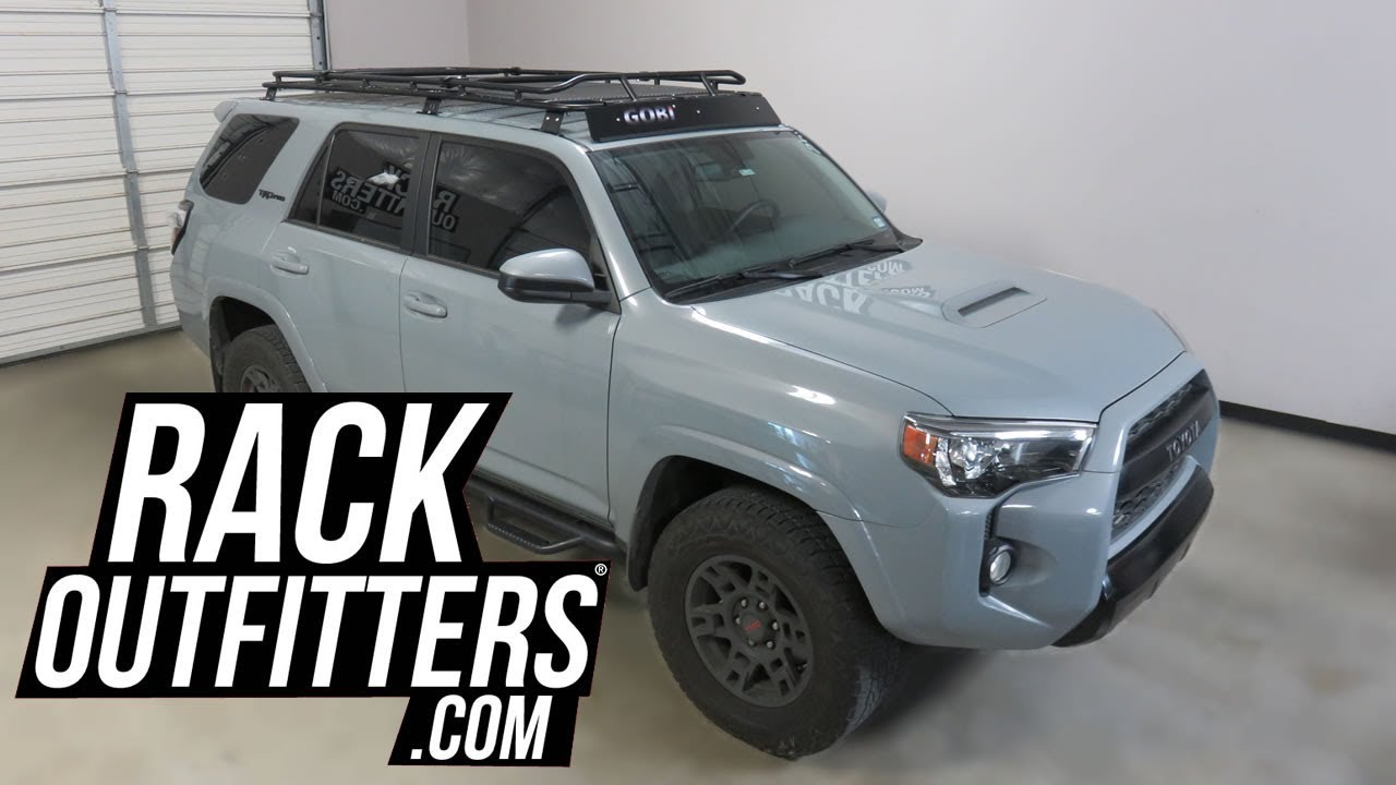 toyota 4runner with gobi stealth off road heavy duty roof rack and rear ladder