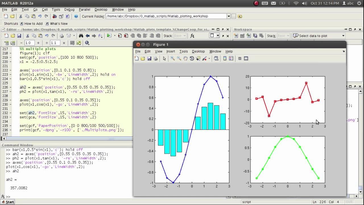 07 Matlab Multiple Axes Plots