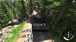 BeamNG.drive Off Road Truck Scenario Rock Obstacle Race
