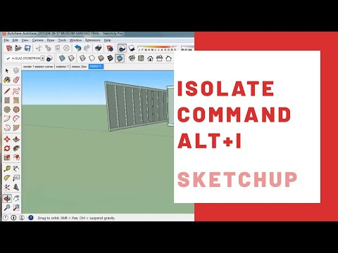 How to Isolate Objects in SketchUp - Sketchup Isolate Command