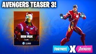 AVENGERS TEASER 3! IRON MAN IN FORTNITE? (Fortnite x Avengers: End Game)