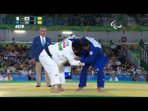 Judo - Men - 73 kg - JPN X KZA  Preliminary - Paralympics Rio 2016
