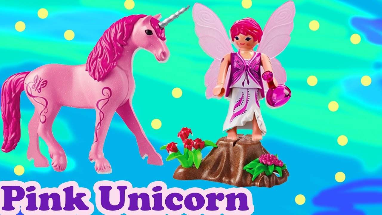 Pink Unicorn Fairy Fantasy Playmobil Playset Pack Bag Toy