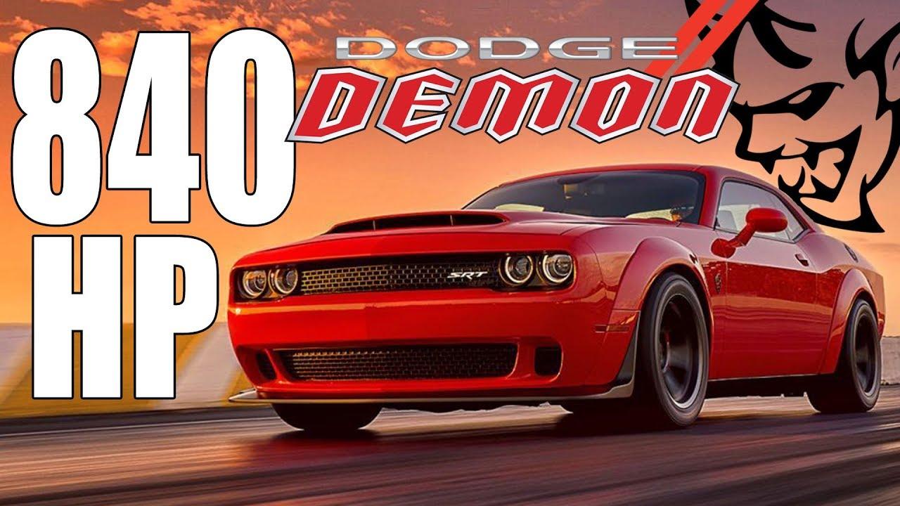 2018 Dodge Demon Fastest Street Legal Car Ever