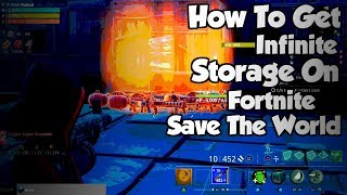 *NEW* Unlimited Storage Glitch On Fortnite Save The World *EASIEST METHOD*