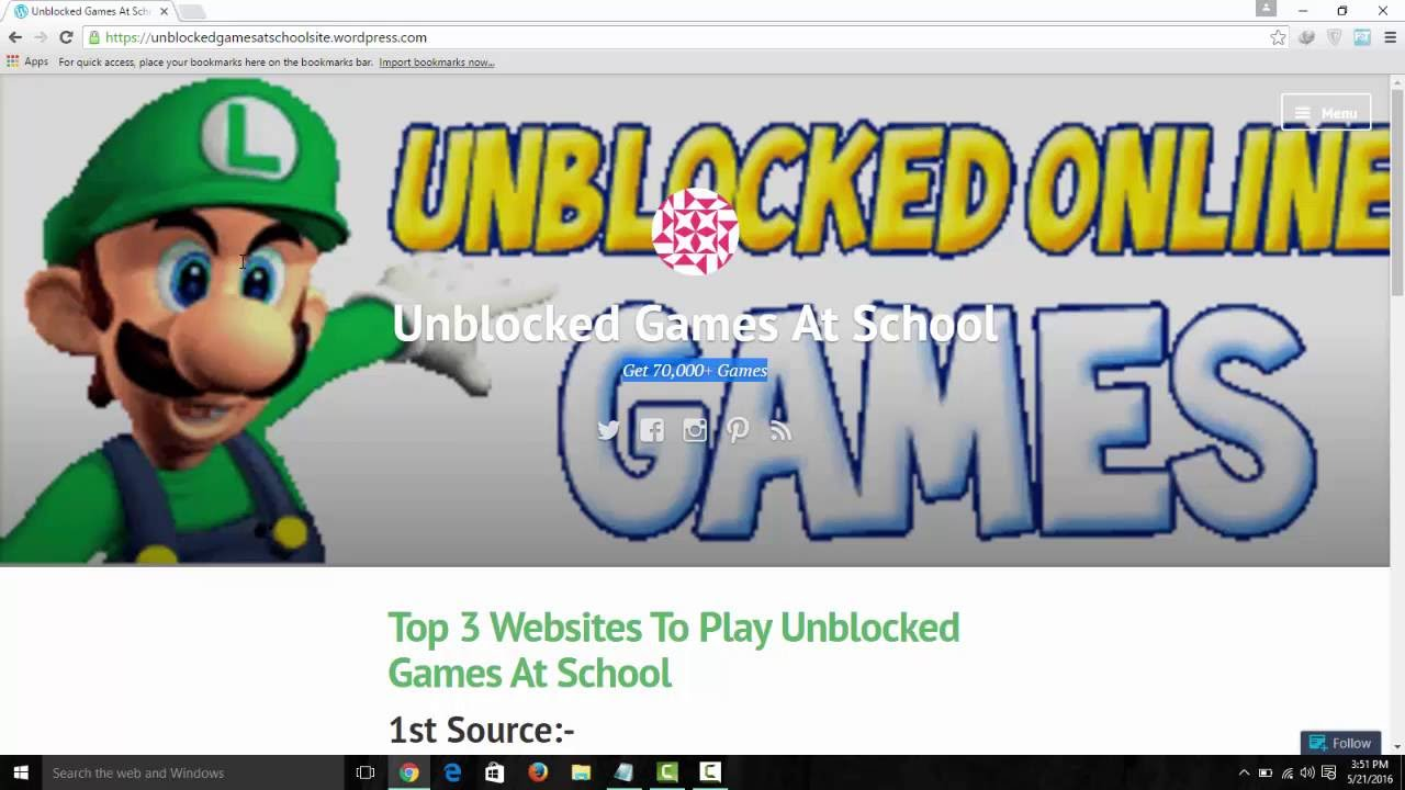Top 3 Websites For Unblocked Games At School
