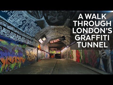 Walk Through London's Graffiti Tunnel & Running Regent's Canal    Carne Travels UK Vlog 2