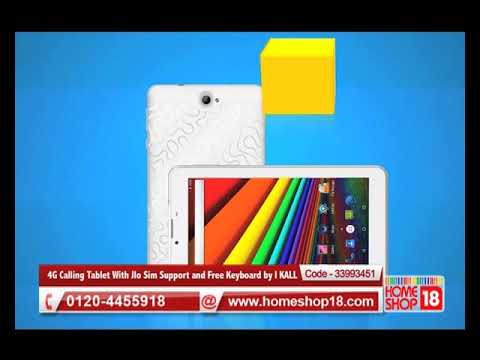Homeshop18.com - 4G Calling Tablet With JIo Sim Support and Free Keyboard by I KALL