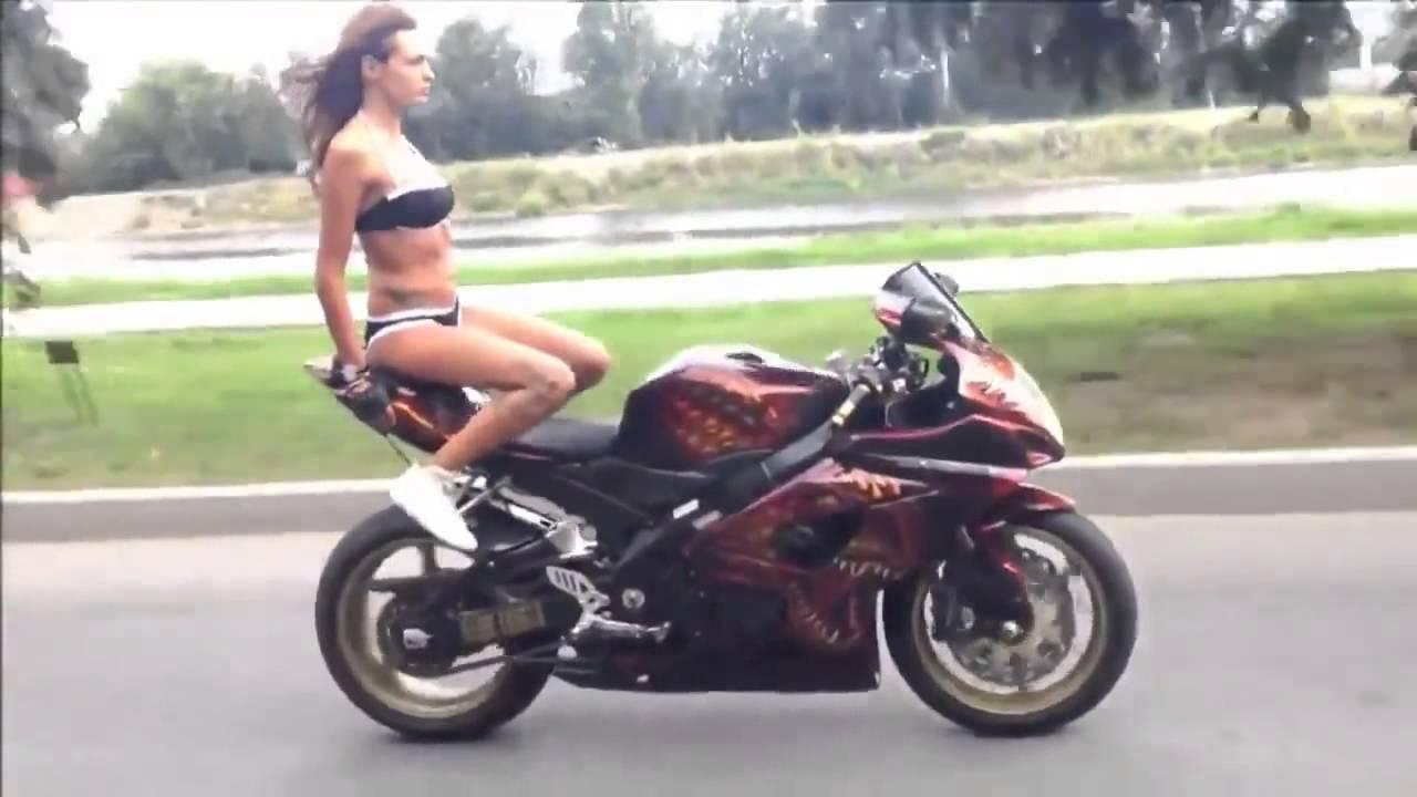 bikini girl in Bike