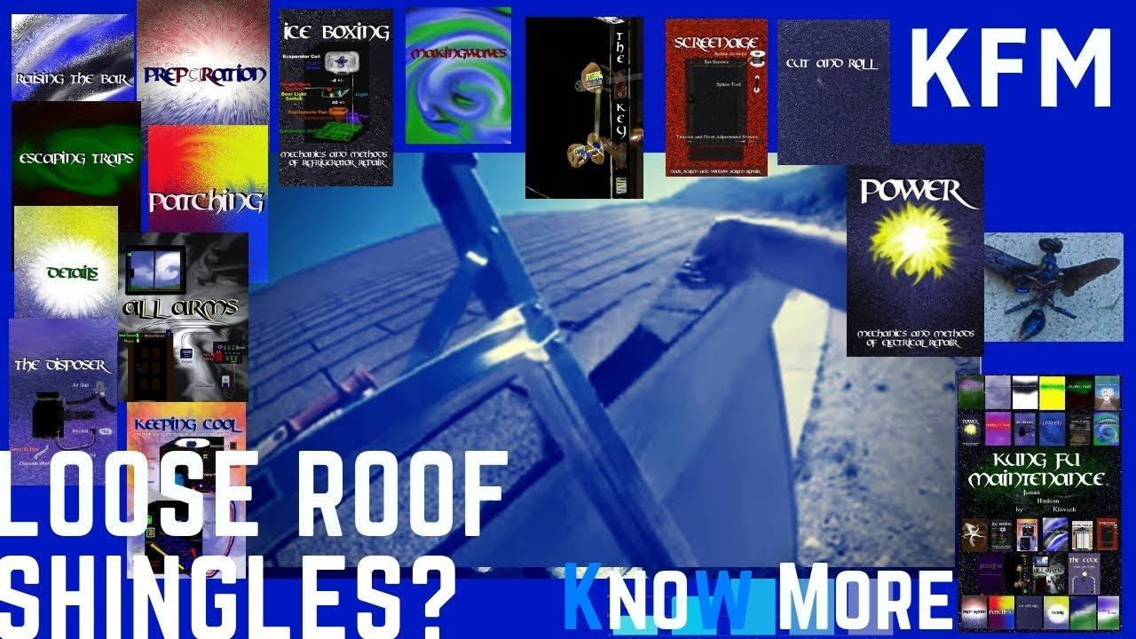 Loose Asphalt Roof Shingles Blowing Up In The Wind Kung Fu