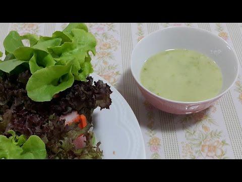 วิธีทำสลัดโรล (Salad roll) - น้ำสลัดโรลซีฟู๊ด (Sea food salad dressing)