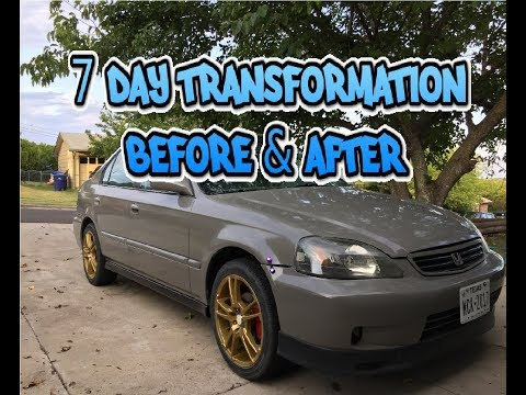 The transformation of the civic after 7 days (Still a work in progress)