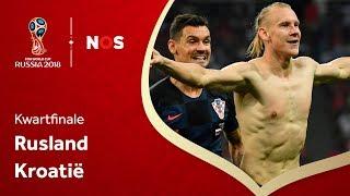 WK voetbal: Samenvatting Rusland - Kroatië (2-2)