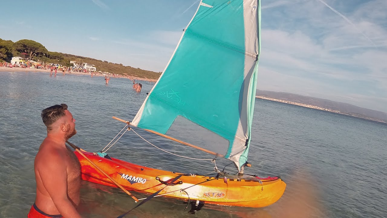 Convert a Kayak into a SailBoat • How To Make it