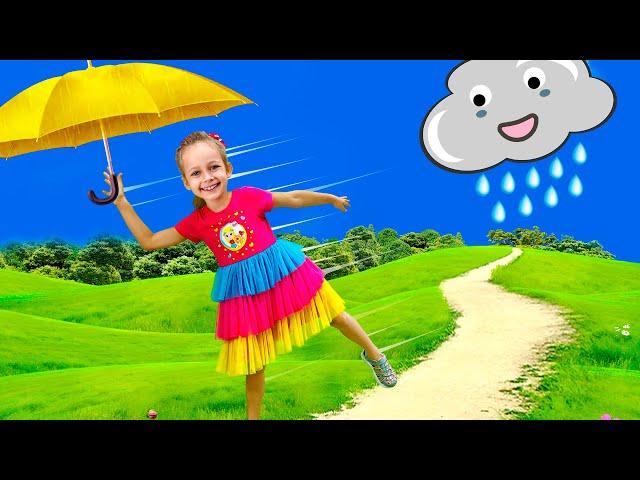 Rain Rain Go Away Song with Maya and Little Baby Doll