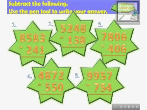 Number Names Worksheets what is regrouping in math : Subtracting 3-Digit Numbers from 4-5-Digit Numbers Without ...