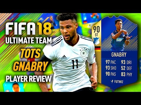 FIFA 18 TOTS GNABRY (90) PLAYER REVIEW! FIFA 18 ULTIMATE TEAM!