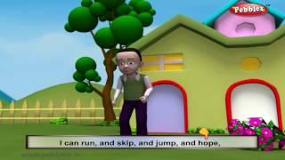 The Actions I Can Do | Nursery Rhymes With Lyrics | Nursery Poems | 3D Nursery Rhymes For Children