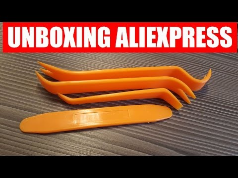 🔝 Unboxing 📦 Auto Car Radio Panel Door Clip Panel Trim Dash Audio Removal Tool From Aliexpress