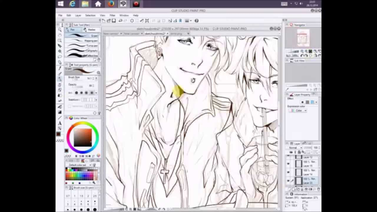 Straight Line In Art Studio : Drawing in clip studio paint pro lineart outlines