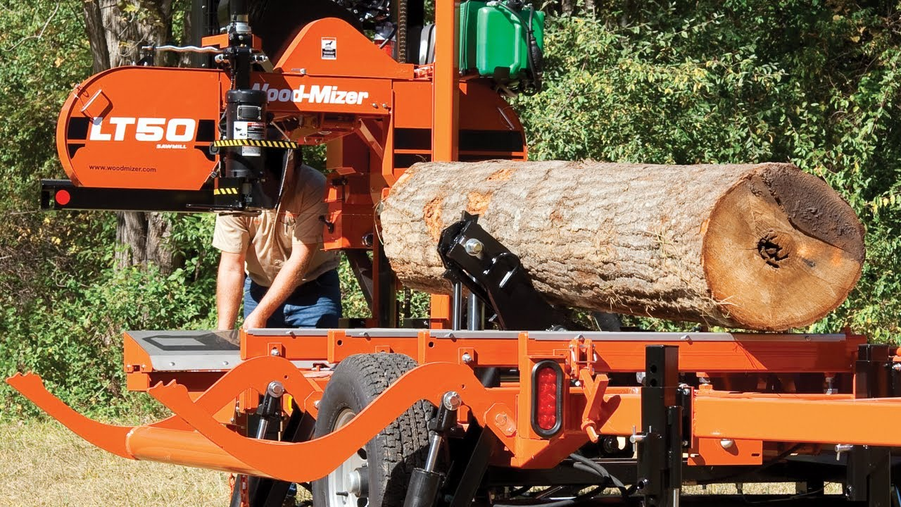 wood mizer lt50 hydraulic portable sawmill produce faster perform rh youtube com Used Sawmills Wood-Mizer LT 300 Sawmill